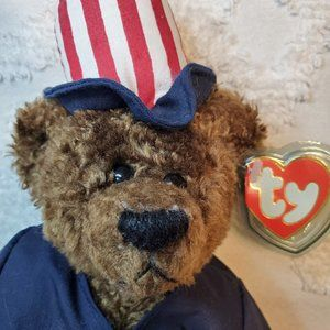 Patriotic Uncle Sam Ty Beanie Babies Bear Samuel I